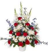 Patriotic Basket Funeral Basket