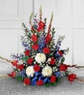 Patriotic Basket Sympathy Arrangements