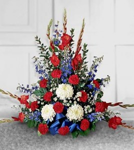 Patriotic Basket Sympathy Arrangements