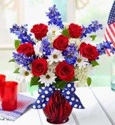 Patriotic Bouquet Fresh Flowers
