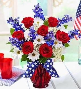 Patriotic Bouquet Fresh Flowers