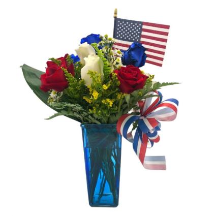 Patriotic Bouquet Arrangement