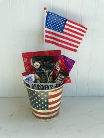 Patriotic Candy Bucket