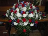 Patriotic (C21) Casket Spray