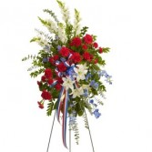 Patriotic Colors Standing Spray