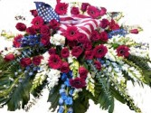 Patriotic Cover casket cover