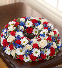 PATRIOTIC CREMATION WREATH