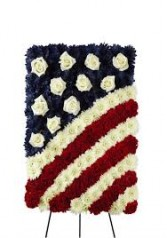 Patriotic Easel Flag Easel