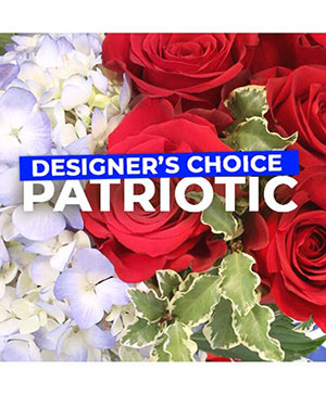 Patriotic Flowers Designer's Choice in Bellingham, WA | M & M FLORAL & GIFTS
