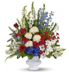 Patriotic Funeral Urn