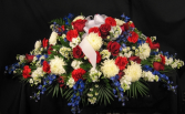 Patriotic Honor Casket Spray