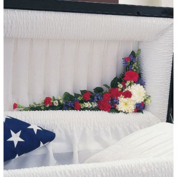 Patriotic Lid Piece Inside Casket Lid Adornment