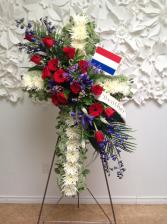 Patriotic Love Cross - Standing Easel