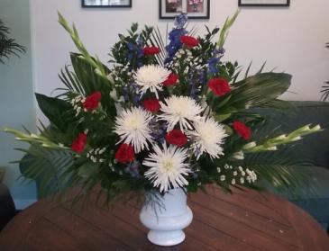 Patriotic Memorial Urn Funeral Urn