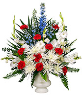 PATRIOTIC MEMORIAL  Funeral Flowers