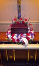 Patriotic Memorial Urn  Urn Wreath