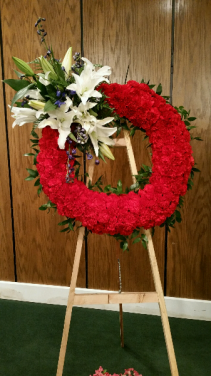 Patriotic Memorial Wreath Standing Spray