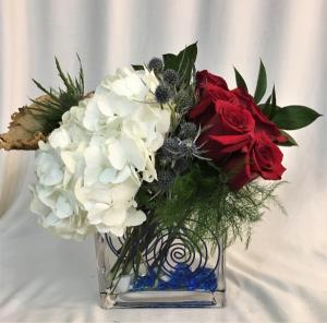 PATRIOTIC PIZZAZZ Arrangement in Boca Raton, FL | Flowers of Boca