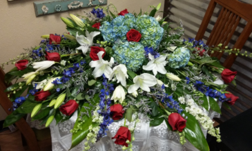 Patriotic Rememberance Casket Spray