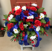 Patriotic Remembrance Silk Casket Spray