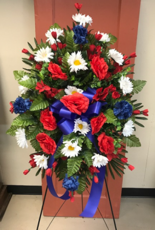 Patriotic Remembrance Stand Silk Standing Spray