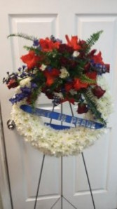 Patriotic Salute Sympathy Wreath