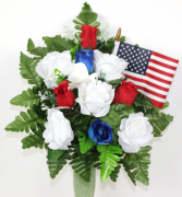 Patriotic Silk Flower Arrangment
