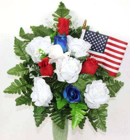 Patriotic Silk Flower Arrangment