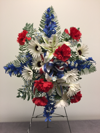 Patriotic Silk Spray Memorial Day Flowers