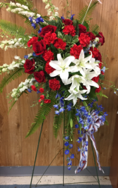 Patriotic Spirit Red, white and blue Fresh flowers