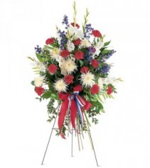 Patriotic Spirit Spray Standing Spray