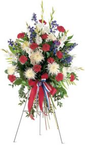 PATRIOTIC SPIRIT STANDING SPRAY