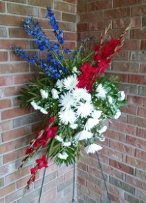 Patriotic Standing Spray - AWF10D