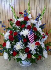 patriotic sympathy basket