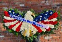 Patriotic Sympathy Eagel Sympathy Arrangement
