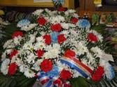 Patriotic (TB 7) Funeral Basket