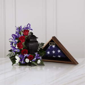 Patriotic Tribute Arragement Urn Tribute in Las Vegas, NV | Blooming Memory