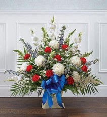 Patriotic Tribute Floor Basket Arrangement