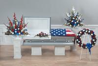Patriotic Tribute Funeral arrangement set in Colonia, NJ   LAKE FLOWERS
