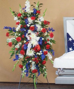Patriotic Tribute Standing Spray