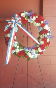 Patriotic Tribute Wreath Standing Spray