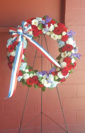 Patriotic Tribute Wreath Standing Spray