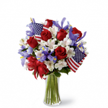 Patriotic USA Vase