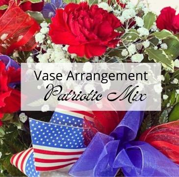 Patriotic Vase Arrangement