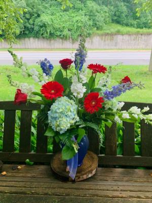Patriotic  Vase Arrangement in Iowa City, IA   Every Bloomin' Thing