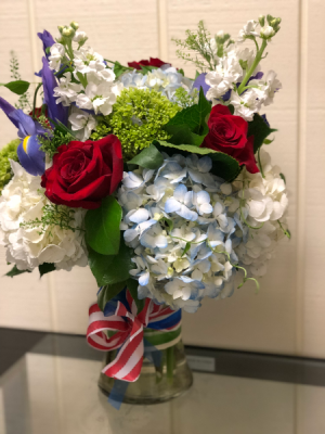 Patriotic Vase Vase Arrangement in Fairfield, CT | Blossoms at Dailey's Flower Shop