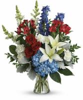 Patriotic Vased Arrangement