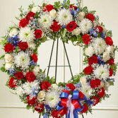 "18"" Patriotic Wreath"