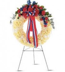 Patriotic Wreath Funeral Flowers