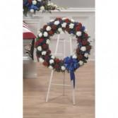 PATRIOTIC WREATH  Funeral Flowers